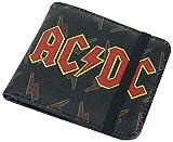 AC/DC Lightning Hombre Cartera Negro, Poliuretano,