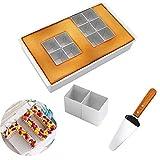 MEISHANG Molde de aluminio con forma de números y letras antiadherentes. Molde para tartas para un...