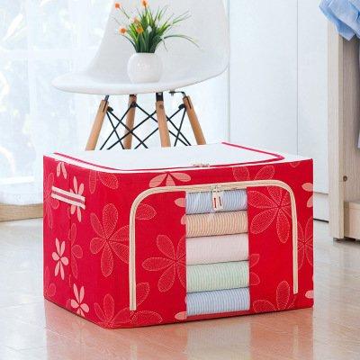 Caja De Almacenamiento De Tela Oxford Plegable Para El Hogar Grande Caja De Embalaje Y Organización De Artículos Diversos 100L 【60 * 42 * 40cm】 Girasol rojo (tela Oxford)