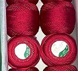 Anchor Mercerized Cotton Crochet, 20 g x5, Red
