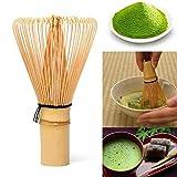 PiniceCore 64 tè Verde Matcha Polvere Frullino Matcha Frusta di bambù Cerimonia Giapponese Bamboo Brush Chasen Accessori Utensili da Cucina