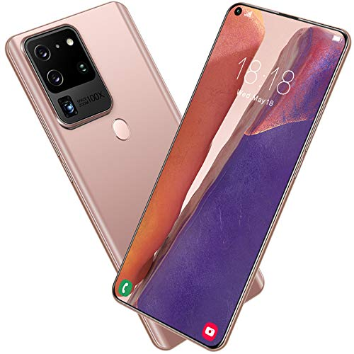 FLAMY Neues entsperrtes Smartphone,S21U, 7,2-Zoll-Bildschirm, 1440 * 3040, 10-Kern, 4 + 64/4 + 128 GB, 24 MP + 48 MP, 5800 mAh, Gesichts-ID/Entsperrung des Fingerabdrucks, Android 10.0, 4G