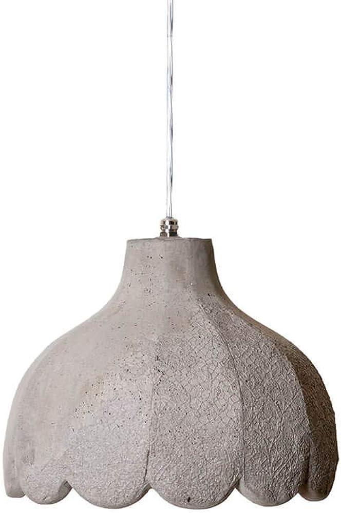 Karman settenani pisolo, lampada a sospensione, in cemento SE686N6