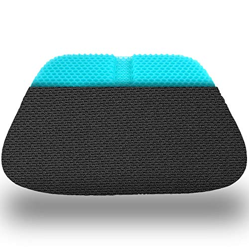 17x17x1.65inch Double Layer Egg Gel Cushion for Car Seat Office Wheelchair Chair Large Gel Seat Cushion Breathable Chair Pads Help in Relieving Pressure Pain
