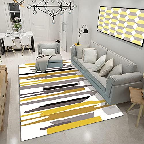 DLSM Teppich mit für die Küche oder Wohnzimmer,Tee Mehrere empfindliche unregelmäßige Multi-Color-Spleißen mit Mehreren Farben-80x120 cm.