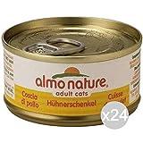 almo nature Juego 24 Gato 5017Lata 70Muslo de Pollo Comida para Gatos