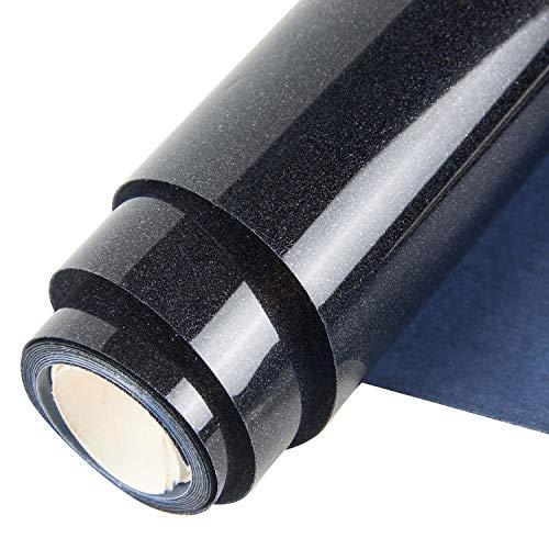 Topmail PVC Transferencia de Calor Vinilo Máquina de Prensa de Calor Corte Plotter Cortador Camiseta Papel de Lámina DIY 25 x 160 cm (Negro)