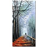 V-inspire Art,24X48 inch modern Impressionist landscape art winter romantic forest decoration acrylic Canvas Wall Art oil painting hand-painted art