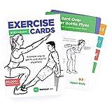 WorkoutLabs Tarjetas con ejercicios para entrenar sin implementos-Tarjetas de deporte en casa para ponerse en forma - Mazo de cartas de ejercicios-Para mujeres y hombres, 60 ejercicios y 12 rutinas