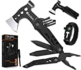 Sdlogal Multitool Camping Accessories - Survival Gear and Equipment - 15-in-1 Hatchet with Knife Axe Hammer Saw Screwdrivers Pliers Bottle Opener Durable Sheath Gifts for Men Women