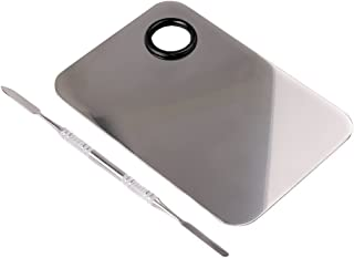 Goege Pro Stainless Steel Cosmetic Makeup Palette Spatula Tool (L5.9W3.9 inch)