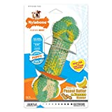 Nylabone Teething Puppy Chew Peanut Butter and Banana Chew Toy for Dogs and Puppies