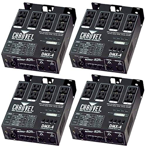 Review Chauvet 4 Channel DJ Dimmer/Switch Relay Pack Light Controller (4 Pack) DMX-4
