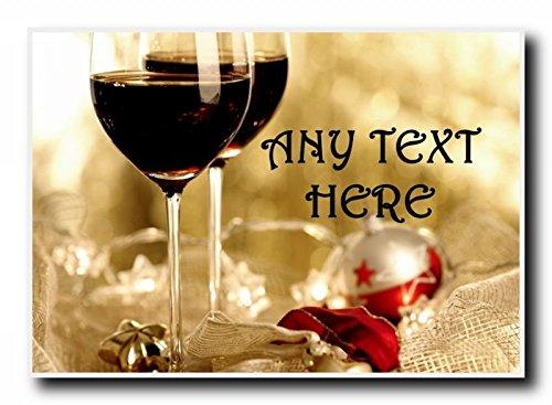 Wijn Kerstmis Gepersonaliseerde Jumbo Magneet