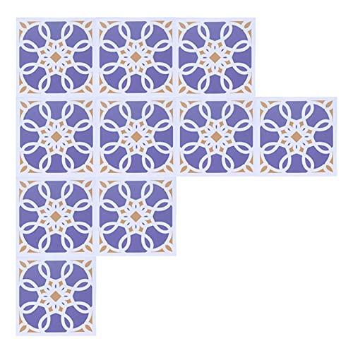 Etiquetas adhesivas para baldosas de cerámica, 10PCS de colores rápidos, hermosas etiquetas adhesivas para baño para comedor(4)