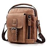 SPAHER ヴィンテージメンズバックパック レザーメンズショルダーバッグ クロスボディバッグ 斜めバッグ ハンドバッグ スリングバッグ 旅行ビジネスバッグ タブレット、財布、携帯電話を保持できる