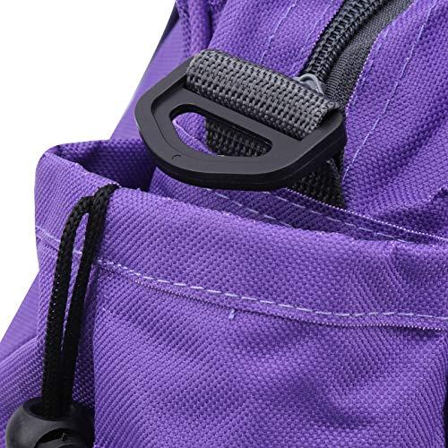 Bolsa de gimnasio Bolsa plegable de tela Oxford para exteriores(purple)