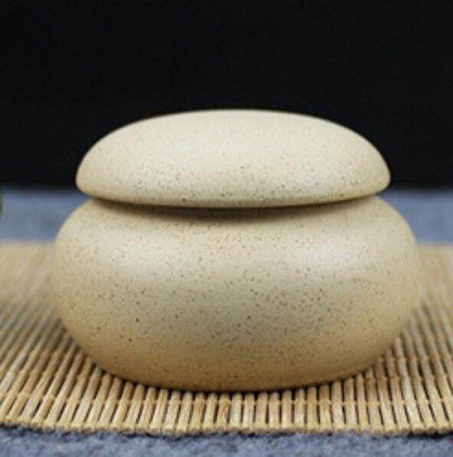 BLxi Mini Ceramica Cosmetici Box Flat Tank Polvere agar Polvere Barattolo (Beige)