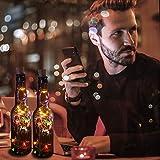 12 Stück LED Flaschenlicht, BIG HOUSE 20 LEDs 2M Lichterkette Kupferdraht batteriebetriebene Weinflasche Lichter mit Kork Schnurlicht für DIY Deko Weihnachten Party Urlaub Stimmungslichter(Mehrfarbig) - 4