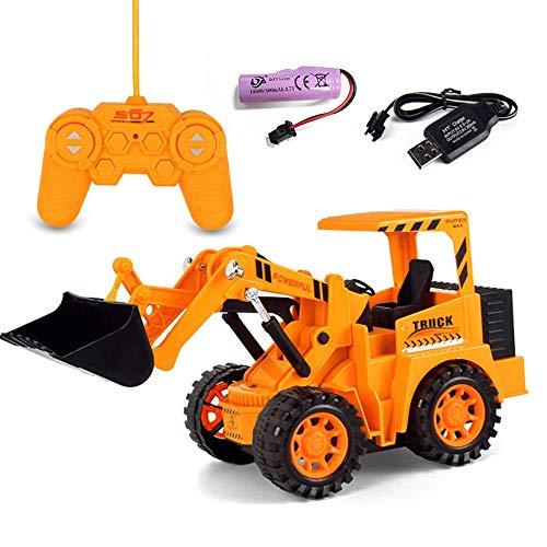 ALYHYB RC Truck Pala Cargadora Tractor, Radio Control 4 Ruedas Bulldozer con luces, 4WD Front Loader Construcción Vehículo Electrónico, Juego Hobby Toy para Niños y Niños