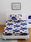 BOMBAY DYEING 100% Cotton ONE Single Size (150CM X 229CM) BEDSHEET with ONE Pillow Cover Size (46 cm X 69 cm)
