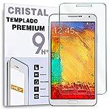 REY Protector de Pantalla para Samsung Galaxy Note 3 Cristal Vidrio Templado Premium