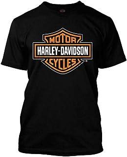 Harley-Davidson Men's Orange Bar & Shield Black T-Shirt 30290591