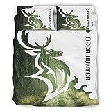 DOGCATPIG Colcha reversible con estilo de cazador de ciervos de gran tamaño...