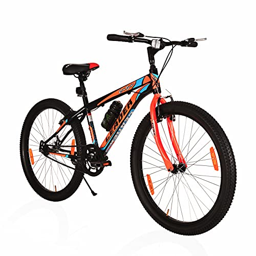 Leader City Surfer MTB 26t Mountain Bicycle/Bike Without Gear Single Speed for Men - Matt Black/Orange. Ideal for 10 + Years