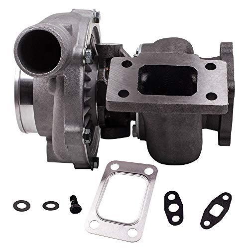 maXpeedingrods Turbocompresor Universal GT30 GT3037 GT3076 Turbo Racing de Motor Coches Refrigeración por Agua 0.82 0.6 A/R Brida T3 para Todos los Motores de 6/8 cyl 3.0L-5.0L [EU STOCK]