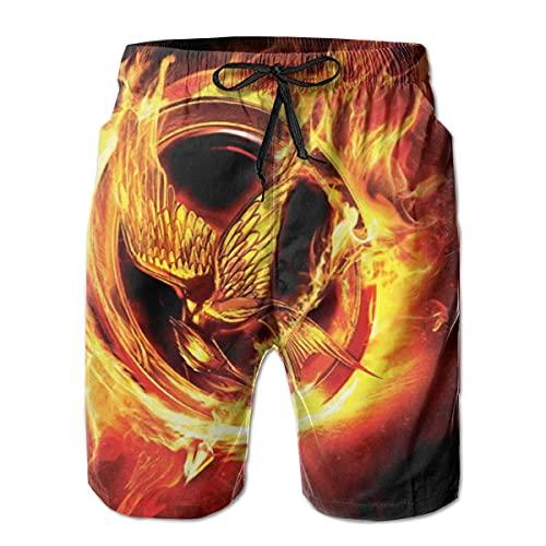 XCNGG Pantalones Cortos de Playa Man Board Shorts Bathing Swimtrunks The Hun-Ger TV Games Beach Pants Mesh Lining with Pockets L