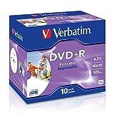 Verbatim Dvd+r 4.7GB Printable - Confezione da 10...