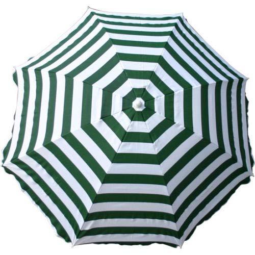 Greenbay Sonnenschirm für Garten und Strand, für den Außenbereich, kippbar, zusammenklappbar, Grün/Weiß