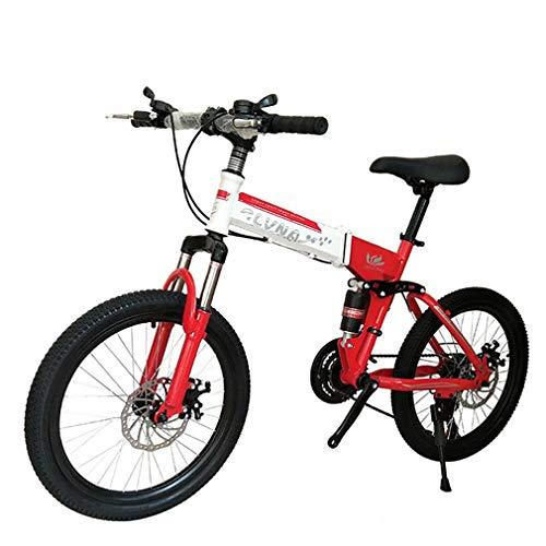 YAOXI 20 Pulgadas Bicicleta De Montaña con Suspensión