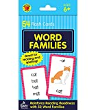 Carson Dellosa | Word Families Flash Cards | Word Endings Sounds, Preschool, 54ct