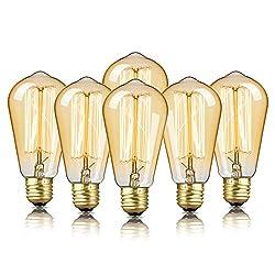 small 6 Edison bulbs, DecorStar Edison bulbs, antique vintage squirrel cage bulbs, …