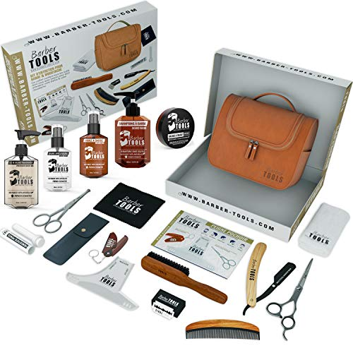 ✮ BARBER TOOLS ✮ Kit/Bartpflege set/Bart-set/Bart und Rasur | Kosmetik Made in French