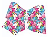 Jojo Siwa Signature Collection Cheer Bow for Girls, Large Hair Bow, Unicorn Print