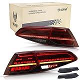 VLAND Feux Arrières LED pour GOLF 7 MK7 MK7.5 GTI R TSI TDI GTD 2012 2013 2014 2015 2016 2017 2018 2019 Feu Arrière,avec clignotant dynamique,Lumière LED complète,Rouge