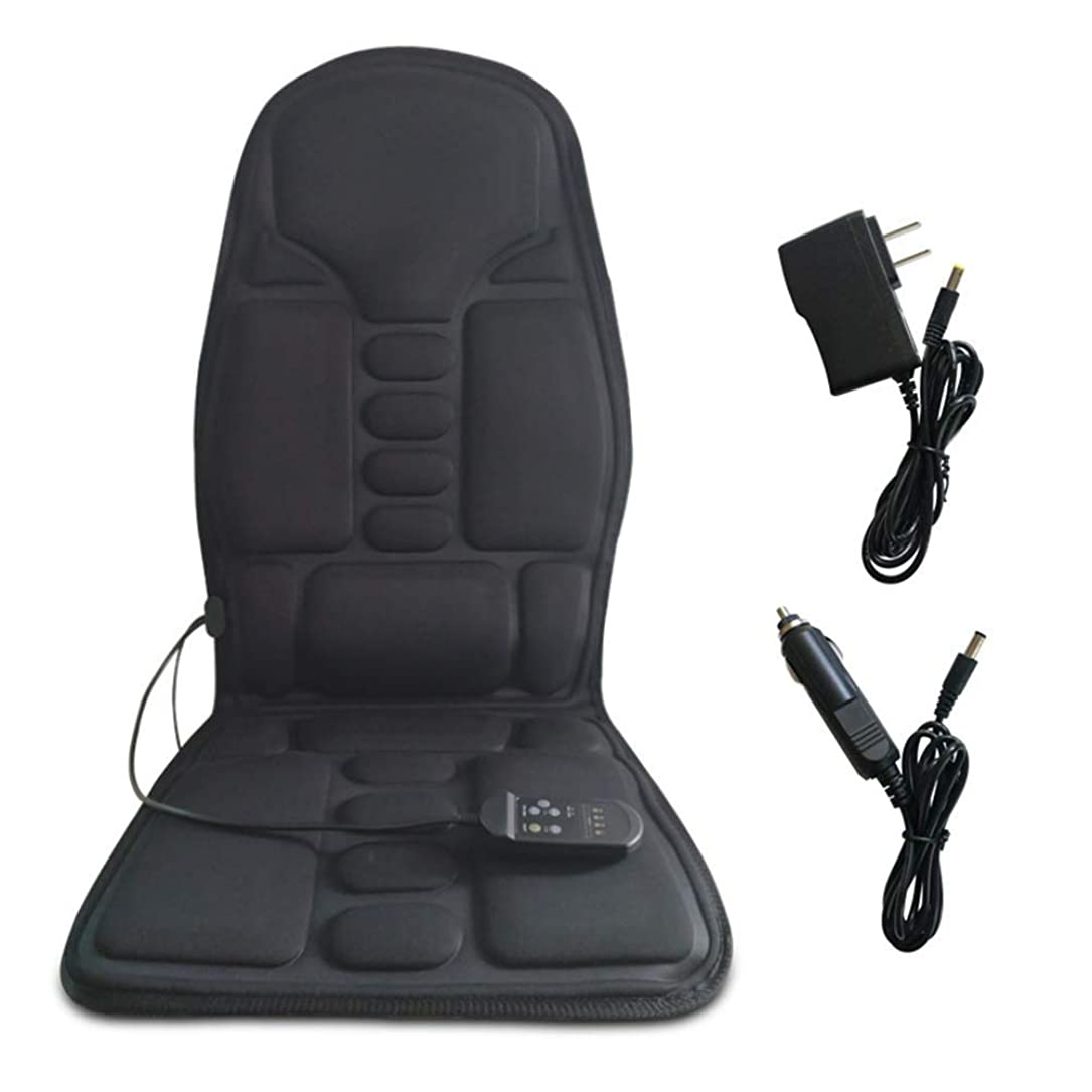 イタリアの徹底花婿マッサージチェアパッド マッサージクッション、5つの振動モーターと腰用加温パッド、内務省や車内でのストレス解消と疲労回復 バックマッサージャー