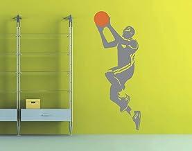 universumsum Muursticker Basketbal korf 2-kleurig roze 30 x 75 cm wal237-30-041 Muursticker Wandsticker kinderkamer zelfkl...