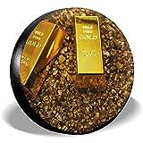 XZfly Cubiertas de Llantas de Repuesto de Oro Roto con lingotes, Protectores de Llantas universales para Ruedas, Accesorios Impermeables para automóviles de Viaje