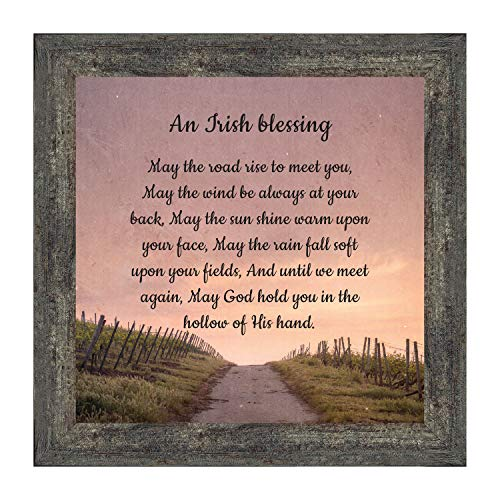 Irish Blessing Wall Decor, May The Road Rise Up to Meet You, Celtic Decor Home Blessing Sign, Irish Gifts for Women. Irish Wall Decor, House Warming Presents for New Home 8643BW