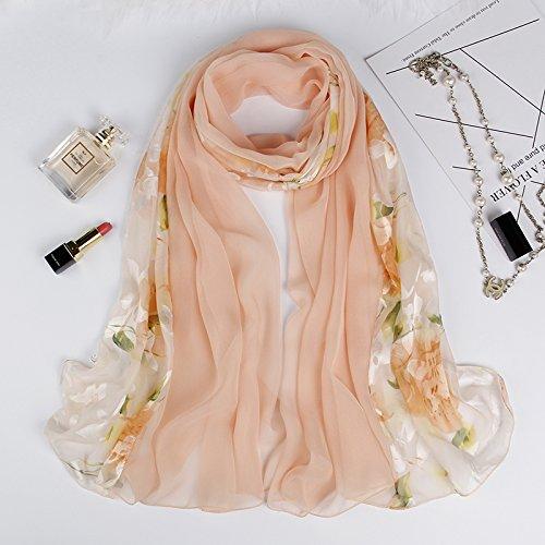 SAIBANGZI Weibliche Frühling Herbst Schnee Spinnerei Handtuch Schal Doppel Farbe Multi-Funktionelle Dekorative Nationalen Wind Schal Leichte Puder-Flache Blumen.