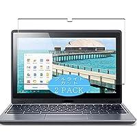 2枚 VacFun ブルーライトカット フィルム , Acer Chromebook C720P 11.6インチ 向けの ブルーライトカットフィルム 保護フィルム 液晶保護フィルム(非 ガラスフィルム 強化ガラス ガラス )