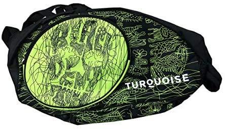 Turquoise Borsa Zaino Media Grande Beach Tennis Portaracchette Super PRO Bag Black Death Green 2019