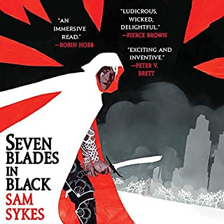 Page de couverture de Seven Blades in Black