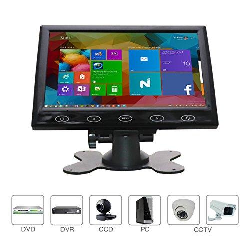 CCTV-monitor 7 inch HDMI-monitor 16: 9-scherm 1024 * 600 AV VGA-ingang Touch-knop/ingebouwde luidspreker voor Raspberry Pi, huisbeveiliging, CCTV-camera, pc-display, door WHOLEV