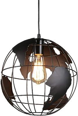Amazon.com: ATD Black Iron Art - Lámpara de techo con forma ...