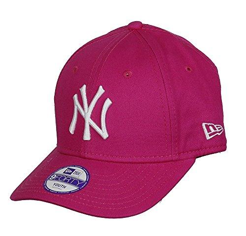 New Era Cap KIDS 940 LEAGUE BASIC NEW YORK YANKEES hot pink white (Youth Alter 6-10 Jahre)
